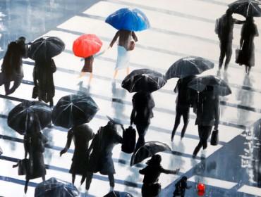 guy terrier-tokyo sous la pluie