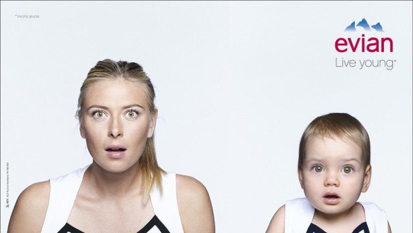 live young-evian-sharapova