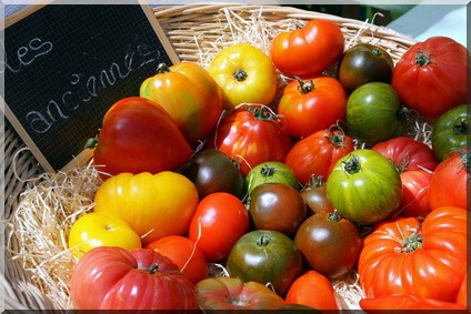 tomates anciennes-salade capri