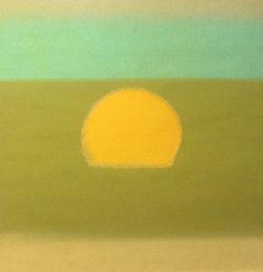 Sunset Green 85 By Andy Warhol