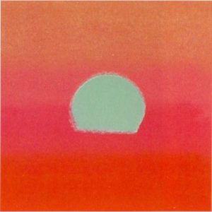 Sunset Red 86 By Andy Warhol