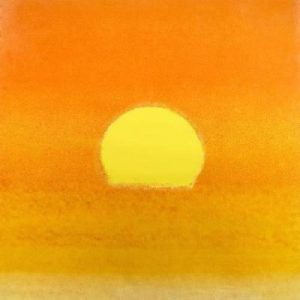 Sunset Unique Yellow By Andy Warhol