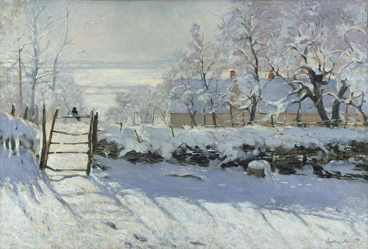Claude-Monet-The-Magpie-neige