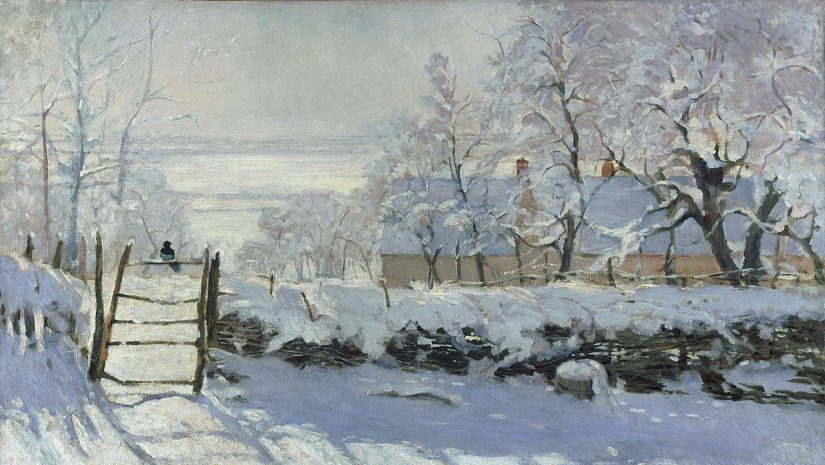 Claude-Monet-The-Magpie-neige