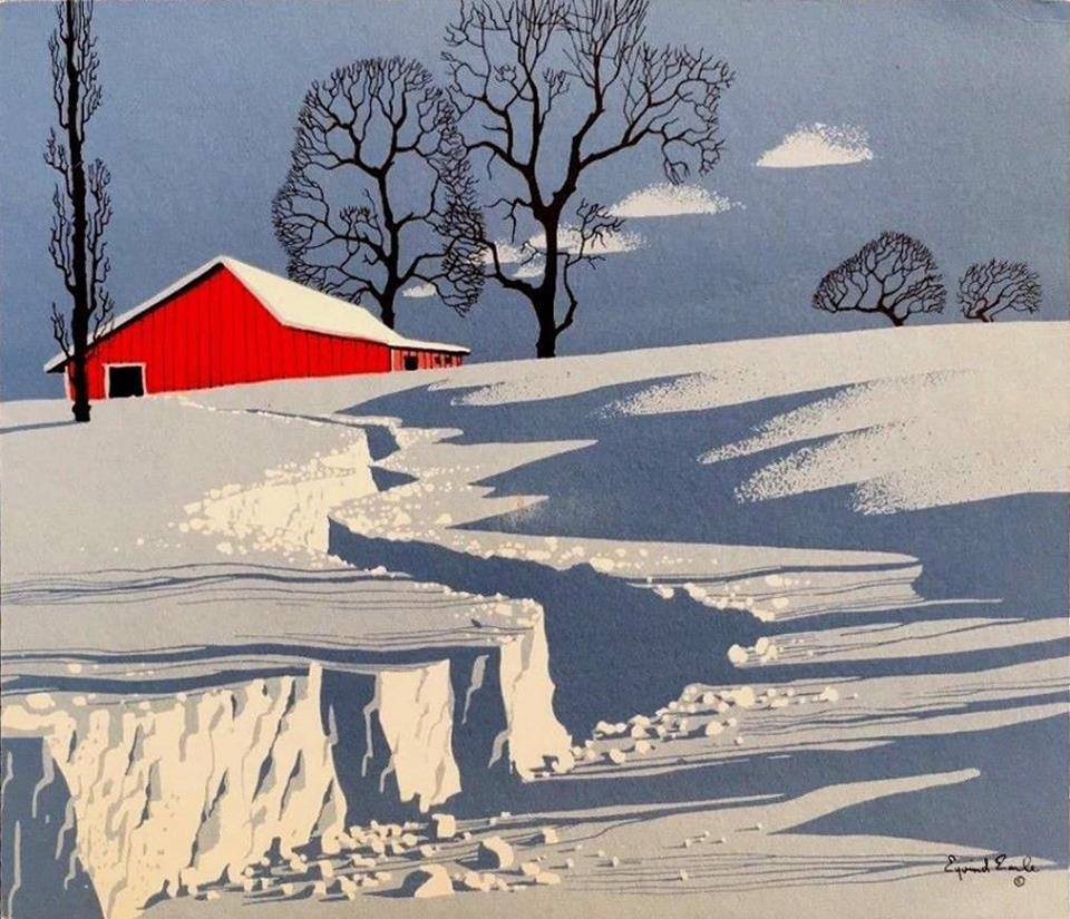 Eyvind-earle-path-in-snow