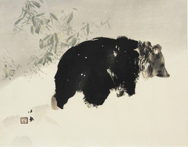 bear-in-the-snow-takeuchi-seiho