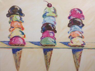 3 cones-wayne thiebaud