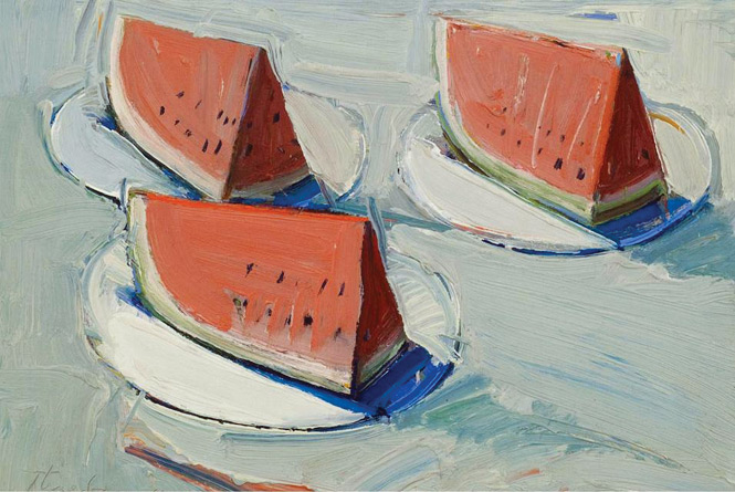 Wayne-Thiebaud-Watermelon-Slices
